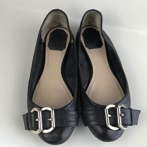 Dior Black Soft Leather Flats